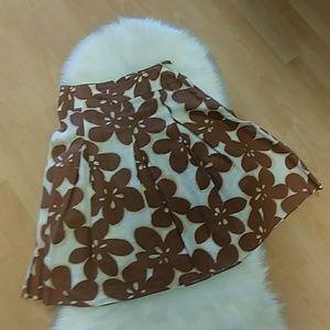Rafaella Floral Linen A line Skirt